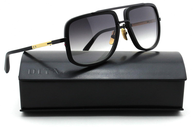 7930353a985 Dita Mach One Unisex Sunglasses 18K Gold w Matte Black DRX-2030G   Amazon.co.uk  Clothing