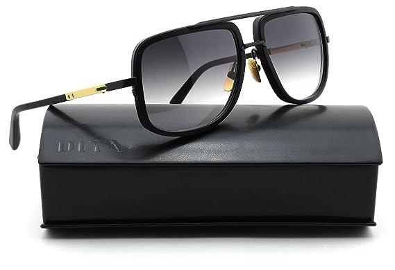 173f65b46d6b Dita Mach One Unisex Sunglasses 18K Gold w Matte Black DRX-2030G   Amazon.co.uk  Clothing