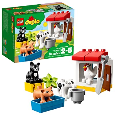 LEGO DUPLO Town Farm Animals 10870 Building Blocks (16 Pieces): Toys & Games