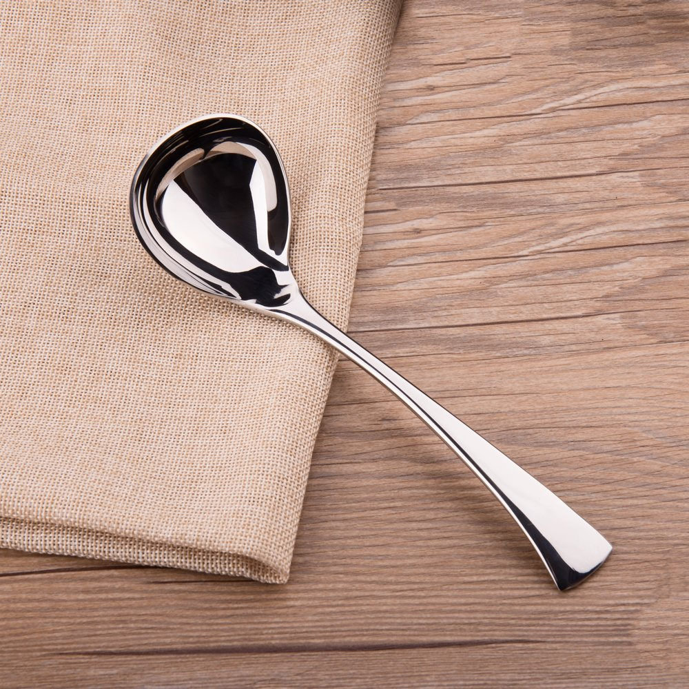 IMEEA 7.5inch 18//10 Stainless Steel Gravy Soup Spoon