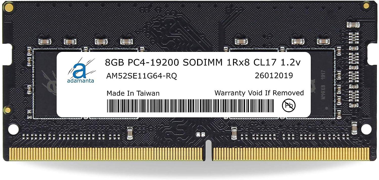 Adamanta 8GB (1x8GB) Laptop Memory Upgrade Compatible for Lenovo ThinkPad, Yoga & V-Series DDR4 2400Mhz PC4-19200 SODIMM 1Rx8 CL17 1.2v RAM DRAM P/N: 4X70M60574
