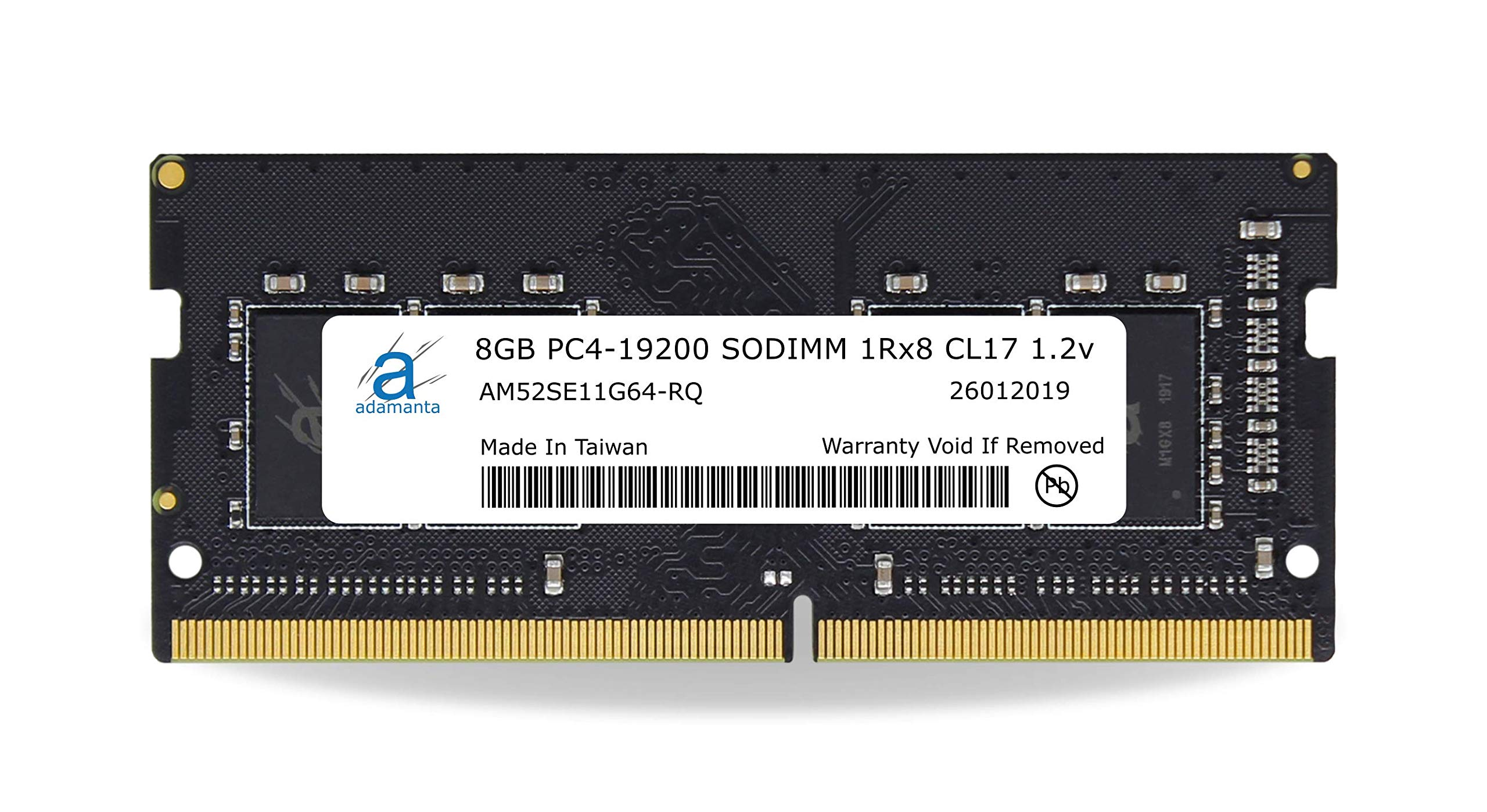 Memoria Ram 8GB Adamanta (1x8GB) Upgrade Compatible para HP 14 DDR4 2400Mhz PC4-19200 SODIMM 1Rx8 CL17 1.2v DRAM