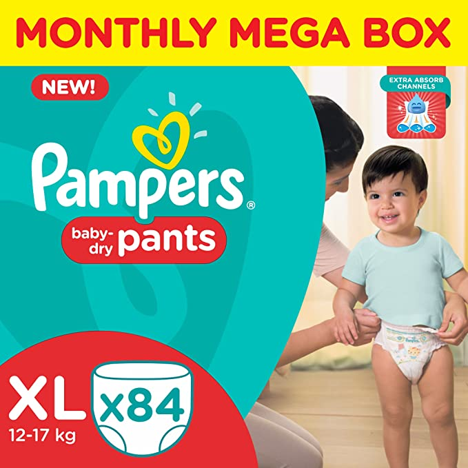 Pampers Diapers Pants Monthly Pack XL Size (84 Count)-Best-Popular-Product
