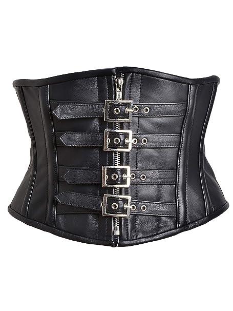 5c9e50f9fa6 Killer Corsets Women s Corset in Leather Black Steel Boned Waist ...