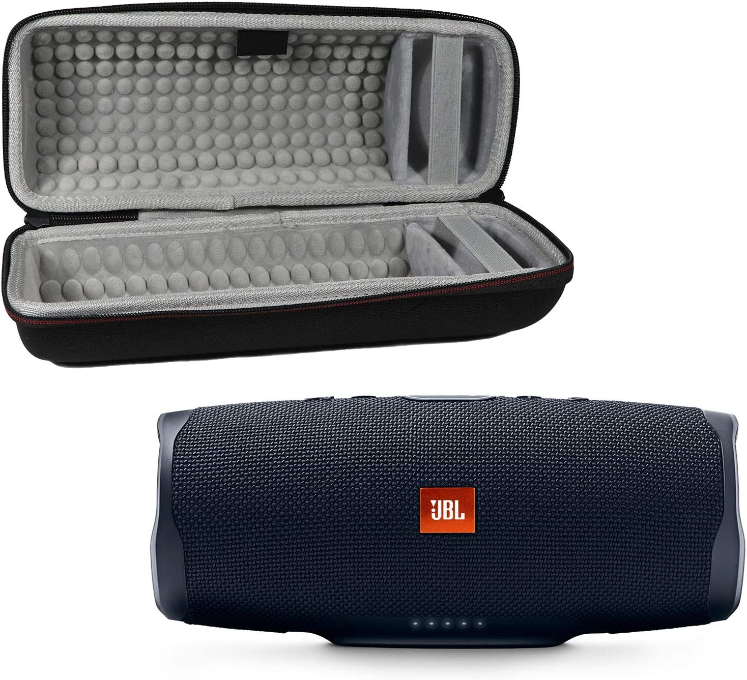 JBL Charge 4 Waterproof Wireless Bluetooth Speaker Bundle with Portable Hard Case - Black