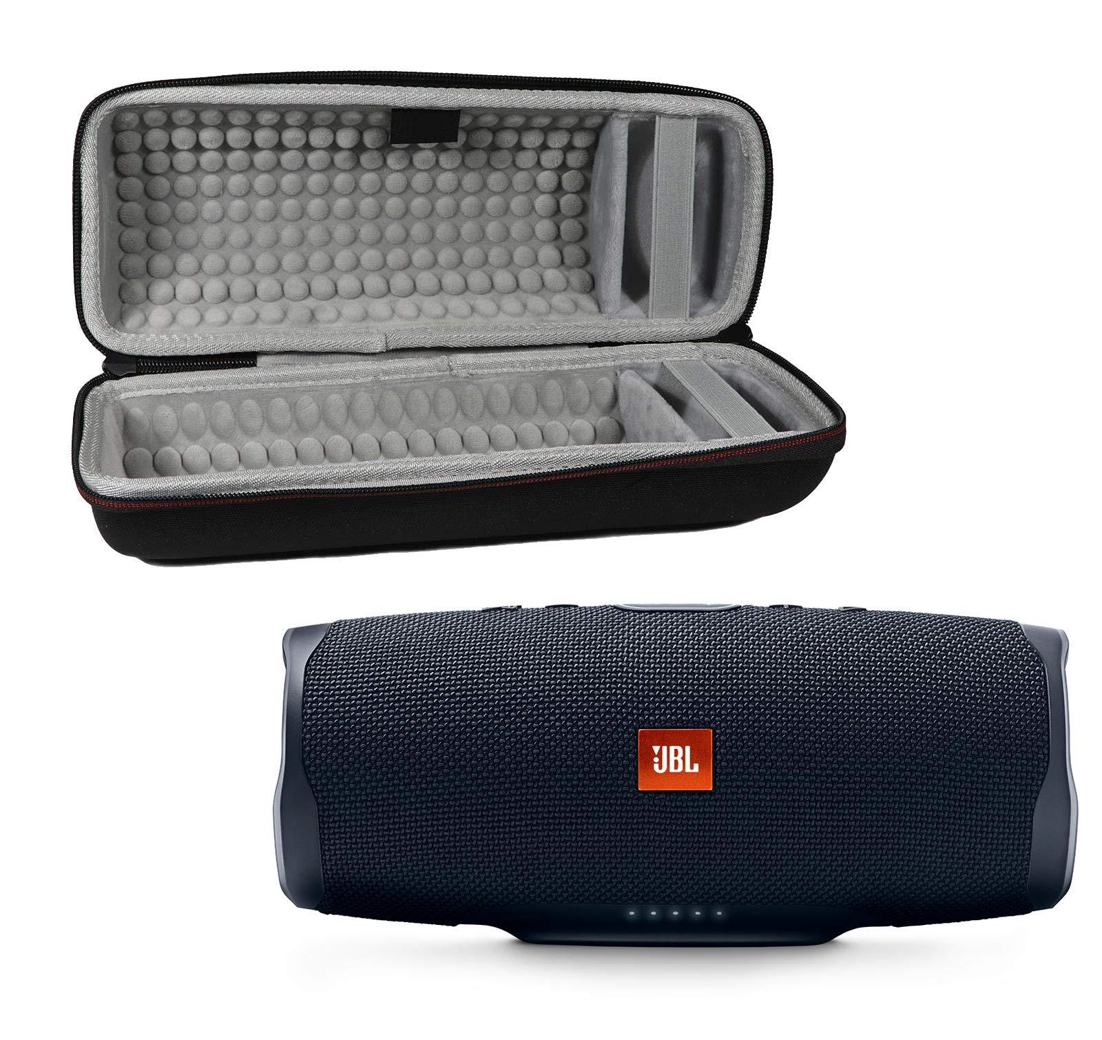 JBL Charge 4 Waterproof Wireless Bluetooth Speaker Bundle with Portable Hard Case - Black by JBL