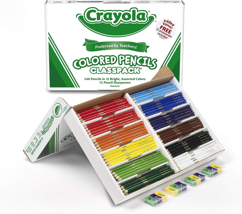 B00006IBOU Crayola Colored Pencils, Bulk Classpack, Classroom Supplies, 12 Assorted Colors, 240 Count 81saf-K6XzL