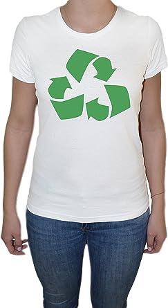 Reciclar Camiseta para Mujer Blanco Todos Los Tamaños ...
