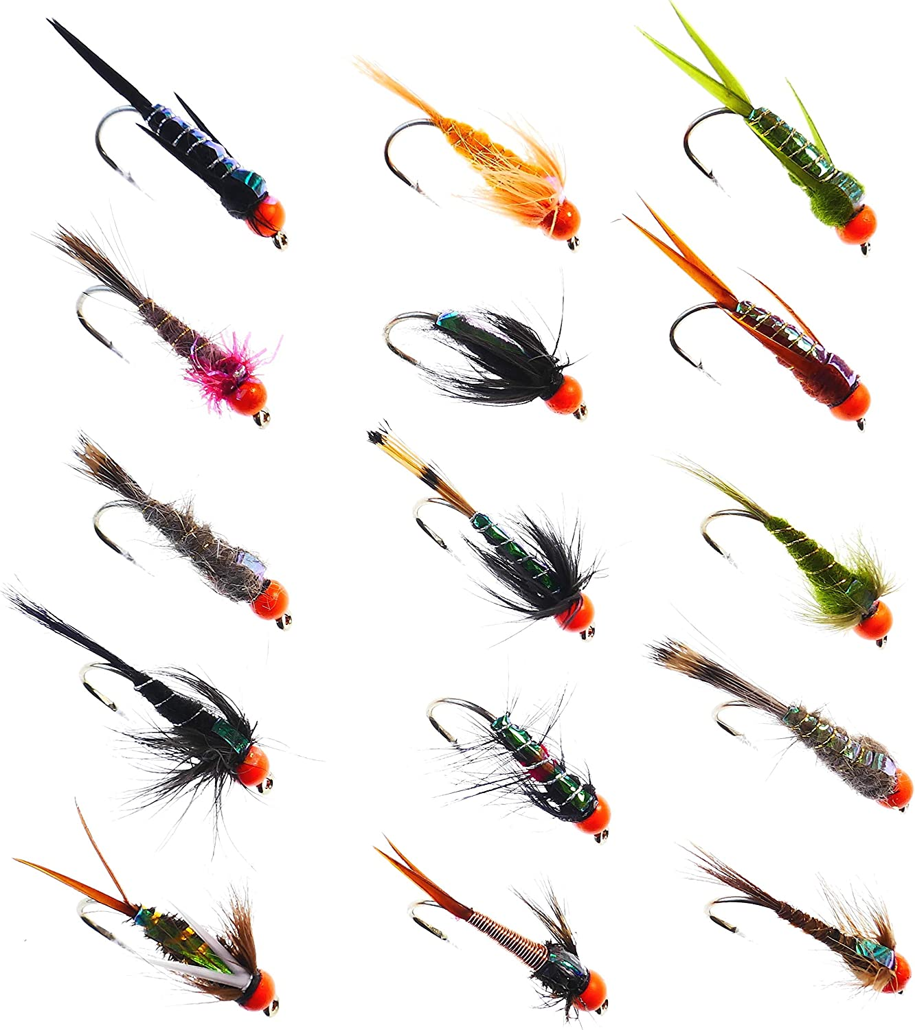 By Arc Fishing Flies UK Trout Flies 33J Black Spider Hotheads # 6 to 18