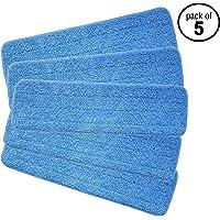Re-Up microfibre de pulvérisation de balai avec tête de rechange humides / secs compatibles Avec système de soins Bona Floor (5 paquets)
