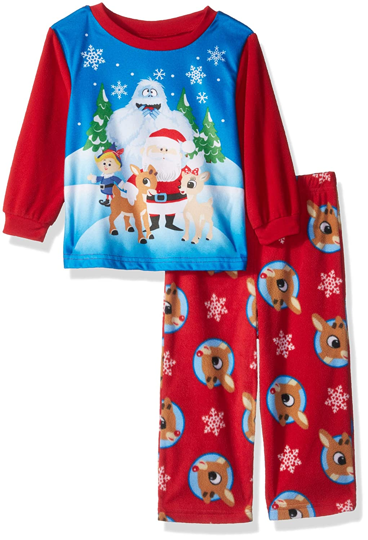 Rudolph Baby Boys Red-Nosed Reindeer 2-Piece Fleece Pajama Set RD031BLL