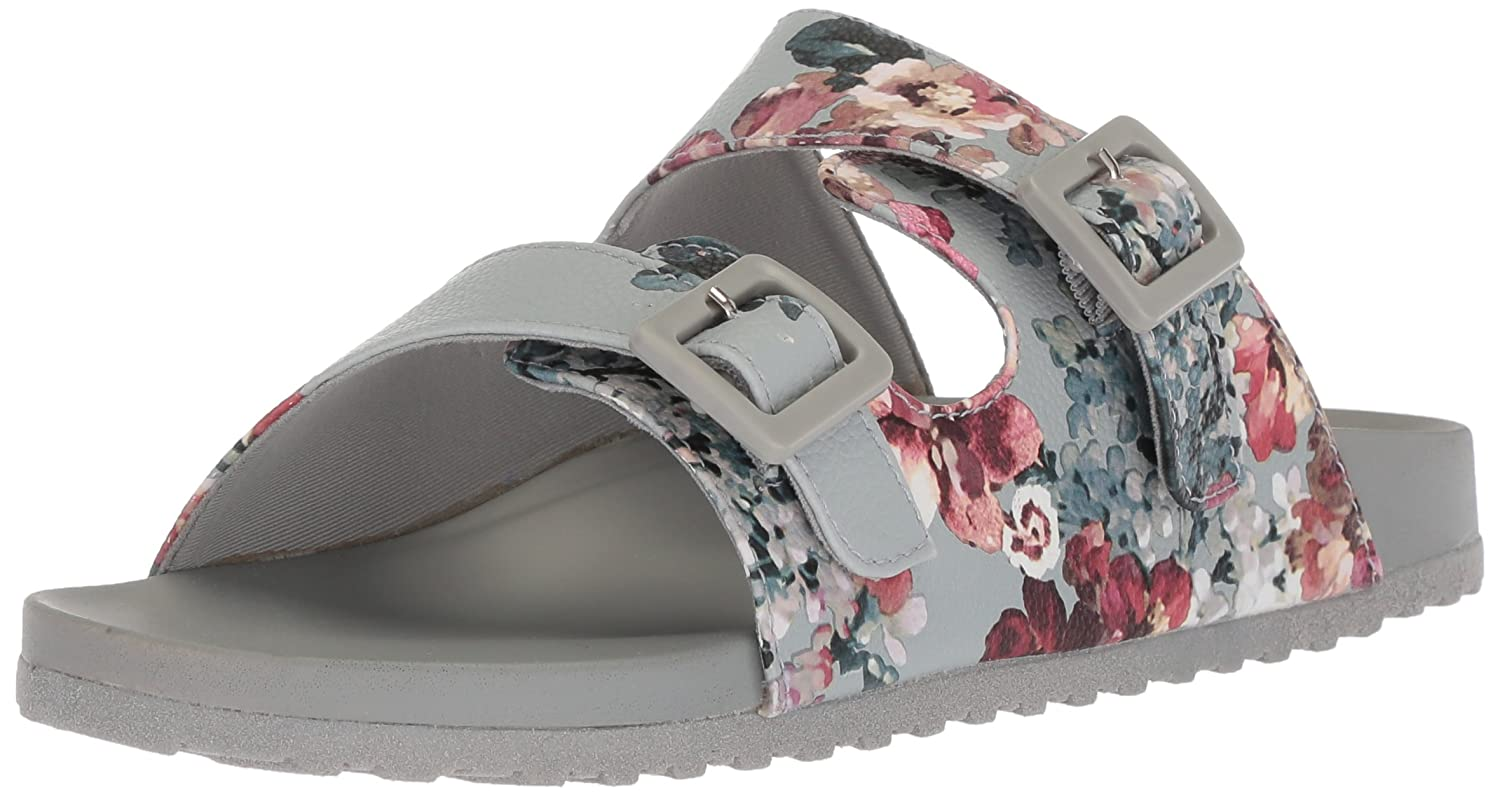 Madden Girl Women's Chase Slide Sandal B07757W8S9 10 B(M) US|Grey/Multi