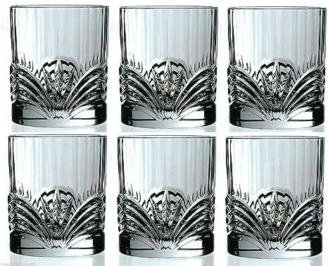 8cc13cb985c Buy RCR AUREA CRYSTAL GOLDEN Crystal whiskey glasses   Wine Water Tumbler  21cl