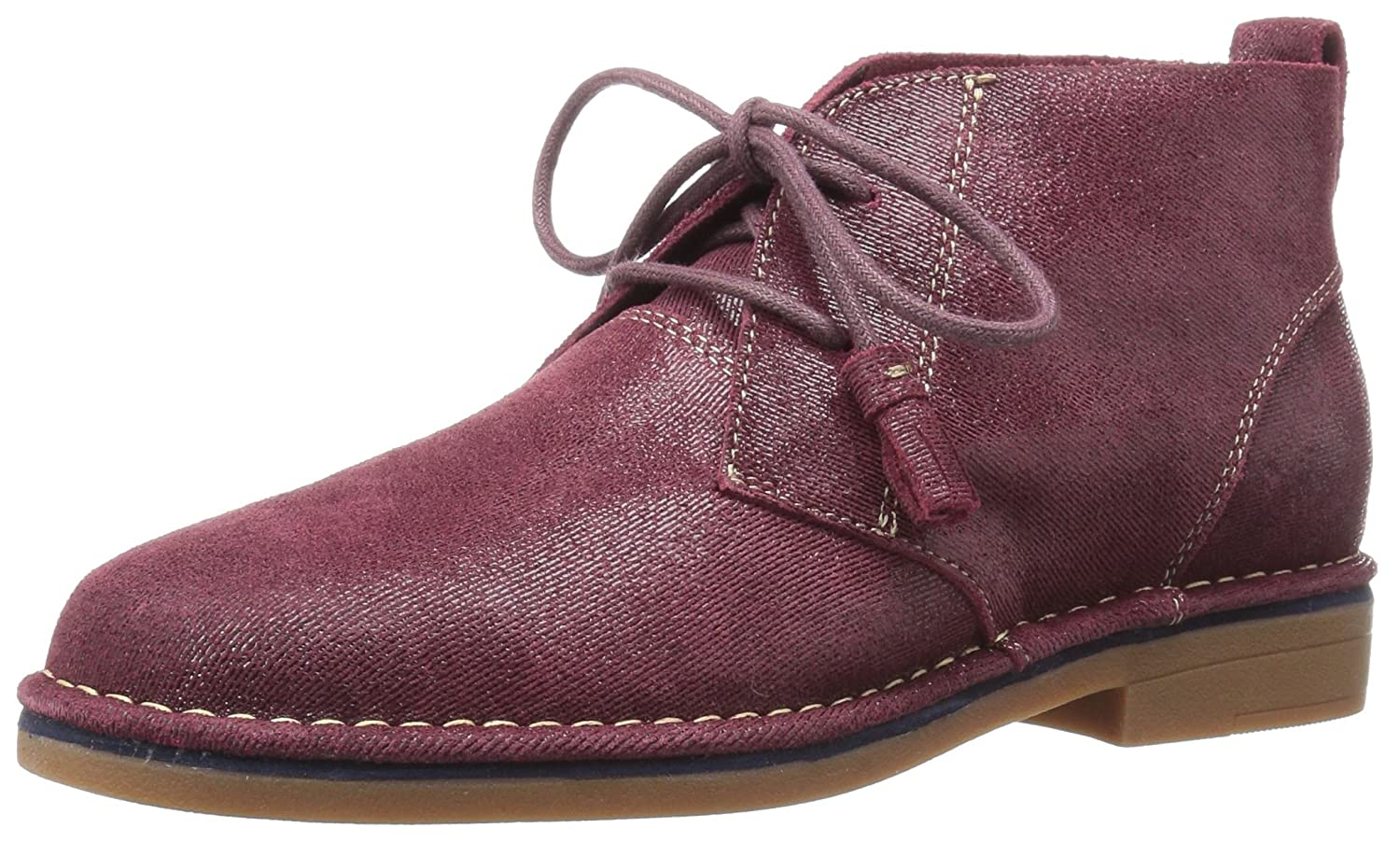 Hush Puppies Cyra Catelyn - Botas Mujer8 B(M) US|Wine Shimmer Suede