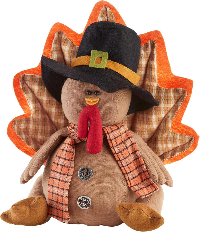 Delton Products Corp Sitting Pilgrim Split Leg Turkey Thanksgiving Figurine 9 Inches
