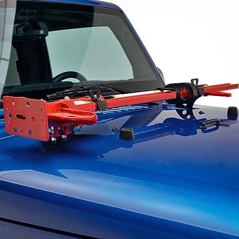 WMPHE Jack Mount Hood Hinge//Door Hinge Bracket Compatible with Jeep Wrangler JK JL 2007-2019