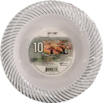 PRIVAT DELUXE CATERING PLASTIC PLATES Hard White Plate with Sea Shell Stamp, Box of 200