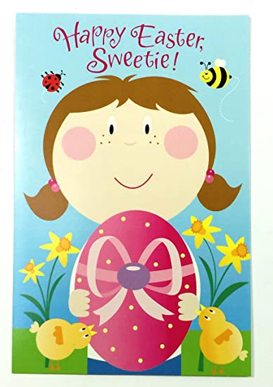 Amazon easter cards for girl happy easter sweetie easter cards for girl happy easter sweetie american greetings pk m4hsunfo