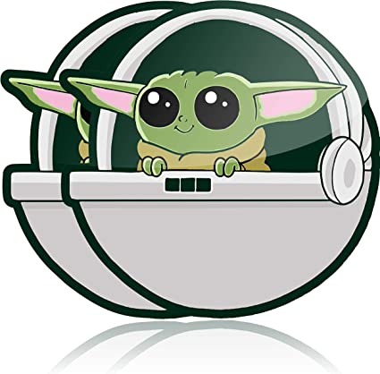 Amazon Com Baby Yoda Self Adhesive Car Decal 2 Pack Waterproof Vinyl Sticker For Your Car Truck Or Laptop Kitchen Dining