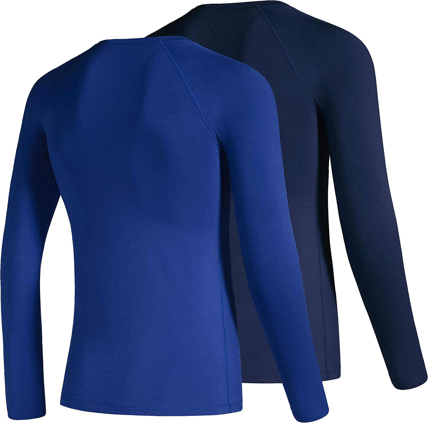 Boys Compression Shirt Youth Fleece Thermal Long Sleeve Cold Gear Undershirts for Boys