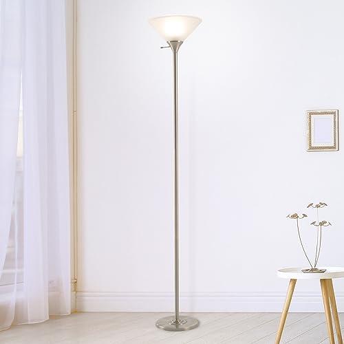 Lavish Home Bronze Torchiere Floor Lamp-Standing Light