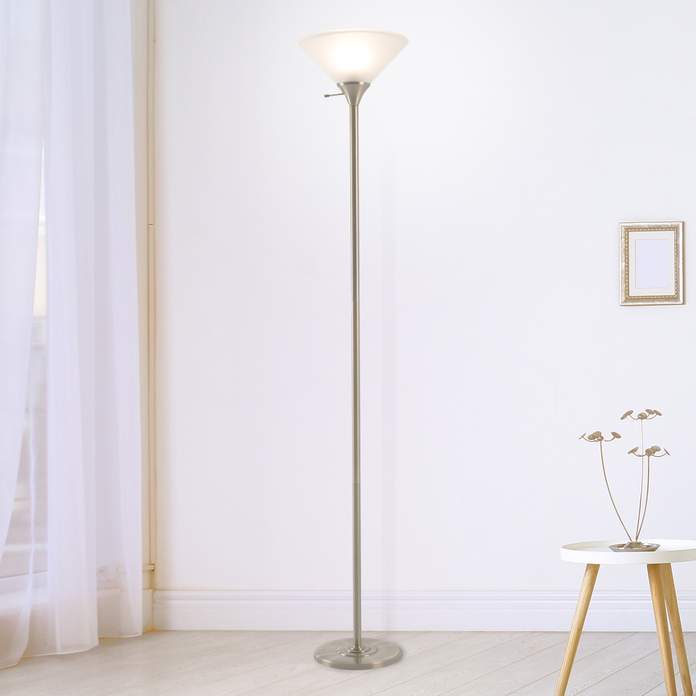 Lavish Home 72-Torch-2 2 Floor Lamp-Standing Light with Sturdy Metal Base, Light Bronze