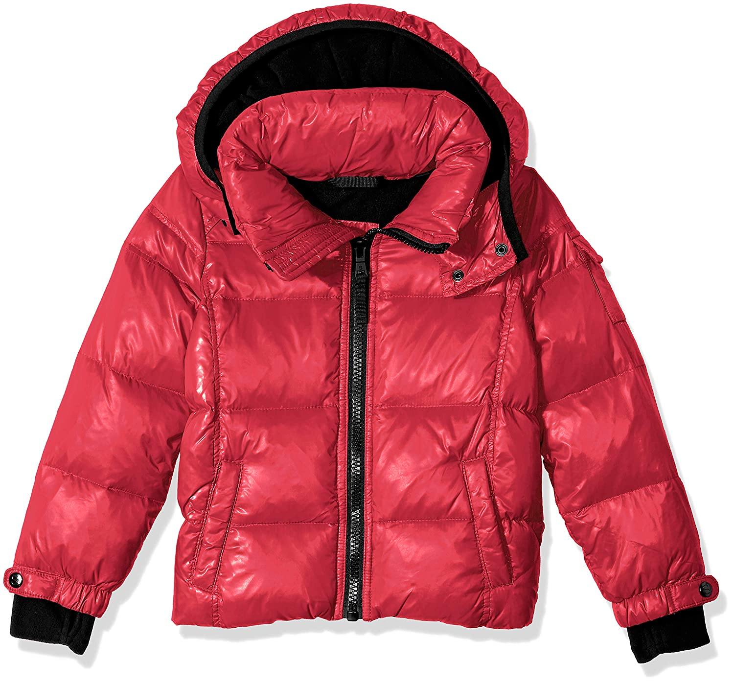 S13 Boys' Downhill Gloss Down Puffer with Detachable Hood