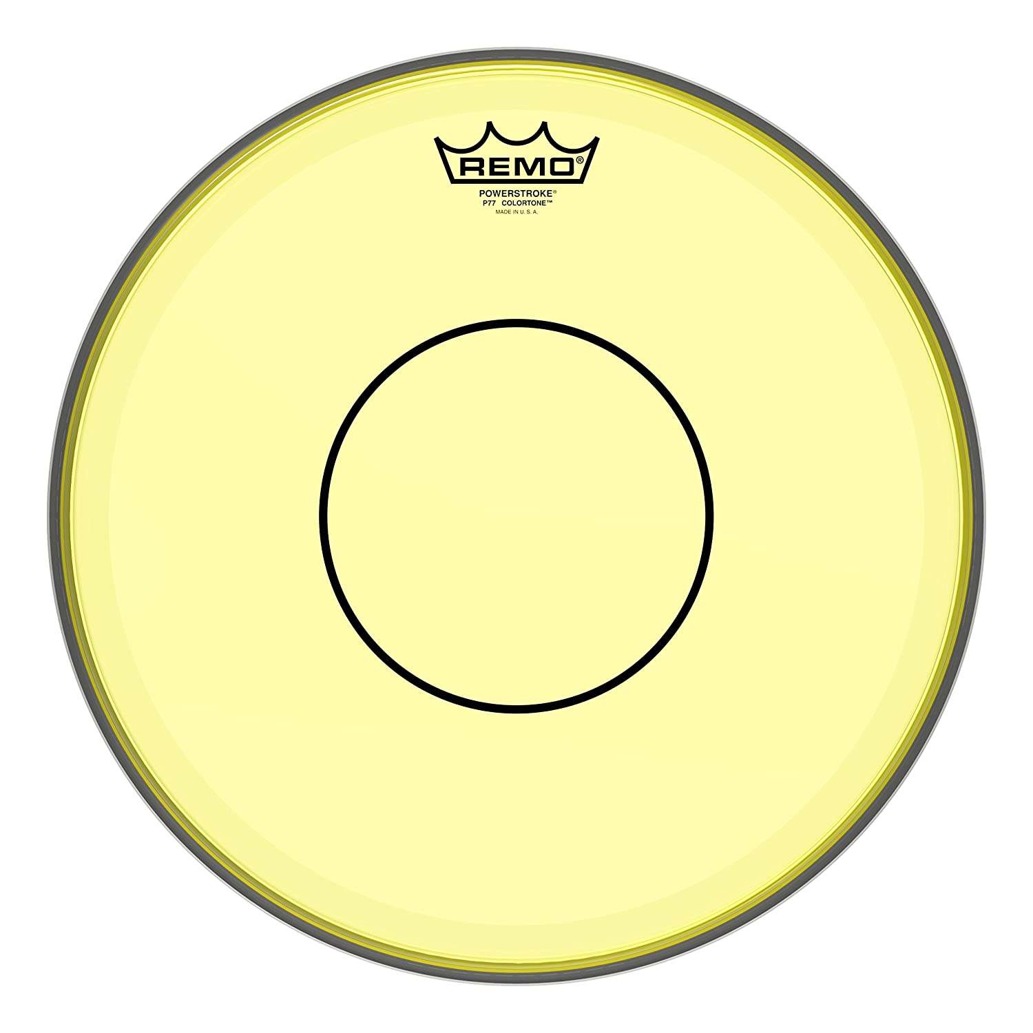 Remo Powerstroke 77 Colortone Yellow Drumhead, 14