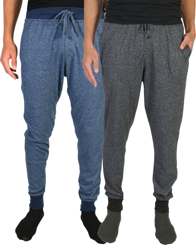Beverly Hills Polo Club Men's Jogger Lounge Pajama Pants, Black/Navy, Medium (32-34)'