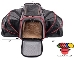 The Original Airline Approved Expandable Pet Carrier by Pet Peppy