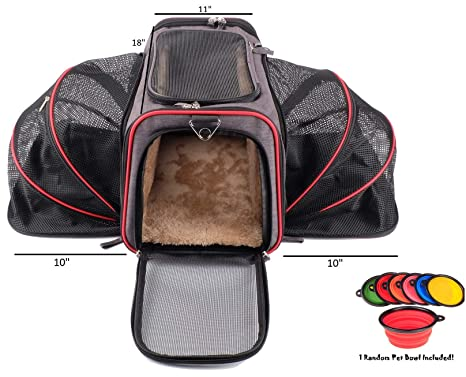 507d0432fb Premium Airline Approved Expandable Pet Carrier by Pet Peppy- Two Side  Expansion, Designed for Cats, Dogs, Kittens,Puppies - Extra Spacious Soft  Sided ...