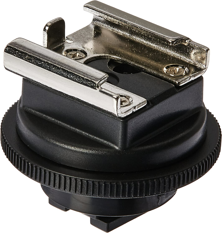 to Universal Shoe Adapter fits Sony HDR-CX560 CX550V XR200V XR550V HC5 HC7 HC96 HC9 SR12 SR11 SR10D SR82C SR7 SR65 SR5C SR5 SR220 AIS AIS Shoe Mount Adapter JJC MSA-2 Sonys Active Interface Shoe