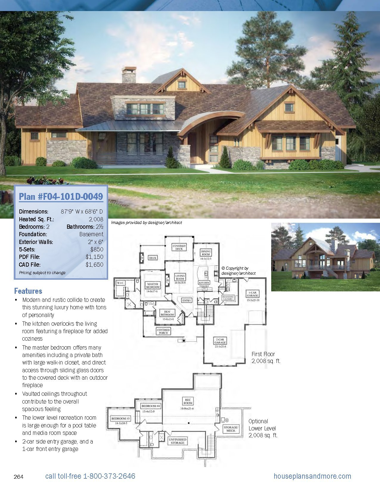 Best-Selling 1-Story Home Plans, Updated 4th Edition: Over 360 Dream ...