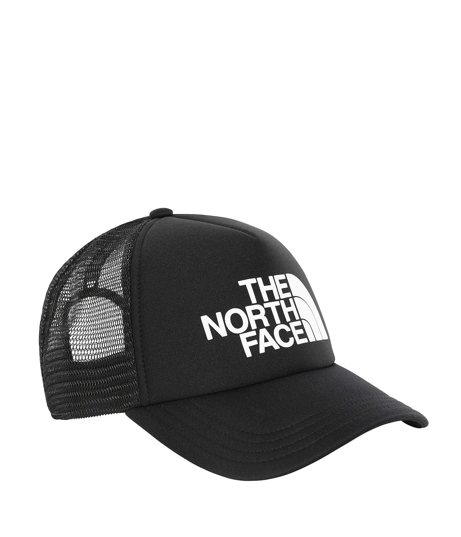 The North Face TNF Logo Trucker Cap Black and White