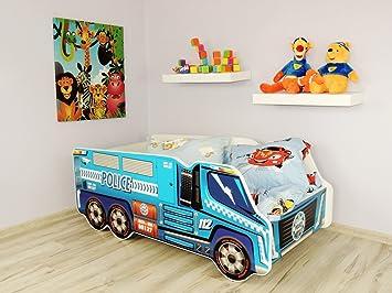 kids bed. TODDLER CHILDREN KIDS BED INCLUDING MATTRESS CAR TRUCK (Police Truck) Kids Bed