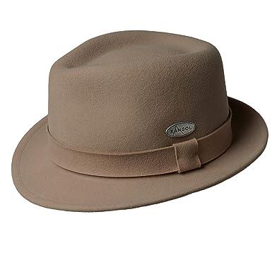 b03beee682992 Kangol Men s Lite Felt Hiro Trilby Fedora Hat at Amazon Men s Clothing  store