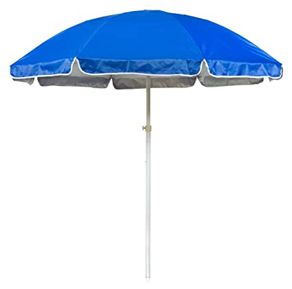 6.5 Portable Beach and Sports Umbrella by Trademark Innovations (Blue)