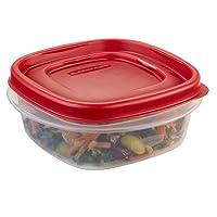Rubbermaid - Recipiente para almacenamiento de alimentos con tapa fácil de encontrar, plástico sin bisfenol A, 5 tazas