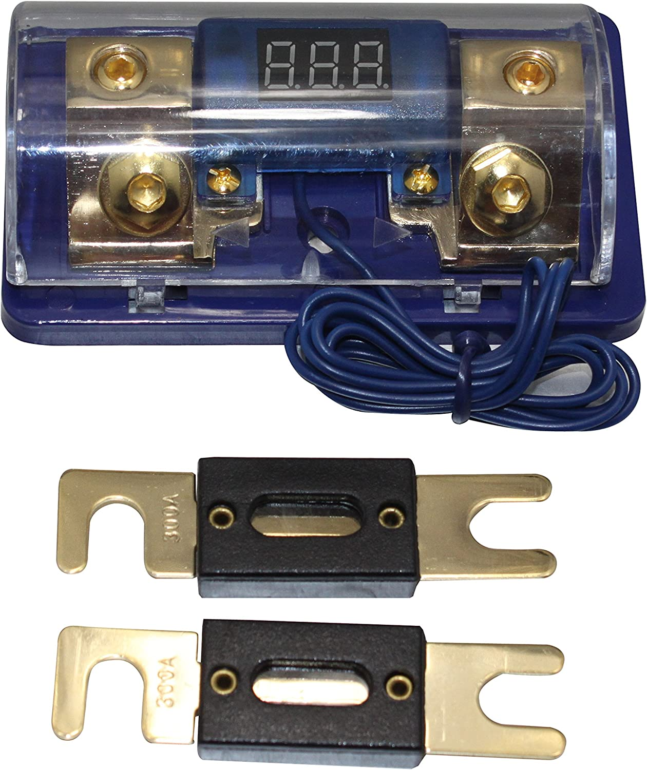 1 4 ga ANL Fused Distribution Block Dual ANL Fuse Holder 2 1//0 to