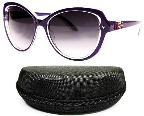 9245d8f00926 Amazon.com  D1067-cc Designer Eyewear cateye Sunglasses (147 Purple ...