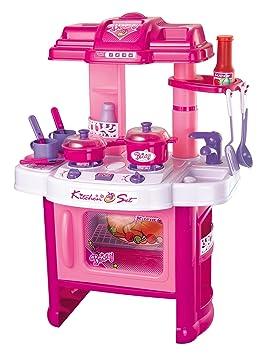 brigamo 472 - Juguete infantil de cocina, juego de Cocina con cocina, con luz y sonidos de cocina, niña juguete: Amazon.es: Juguetes y juegos