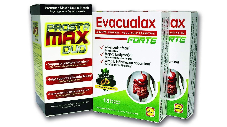 Amazon.com: Prostamax Duo + 2 Evacualax Forte: Health & Personal Care