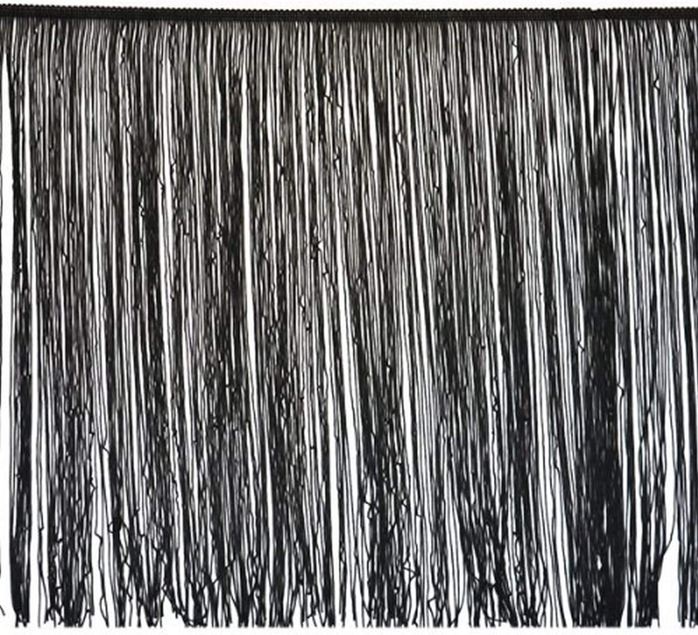 Black Expo International 5 Yards of 12 Chainette Fringe Trim