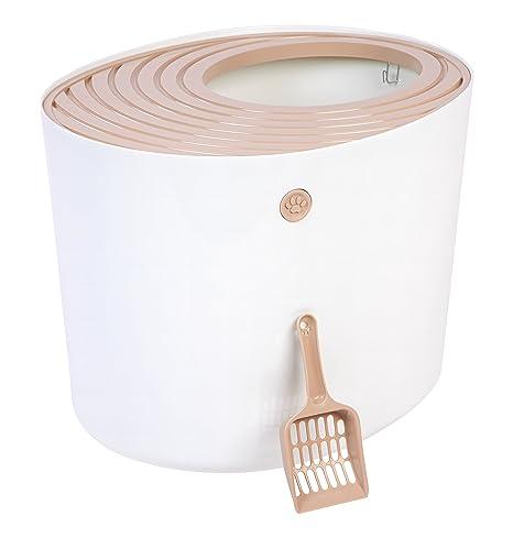 Amazoncom IRIS Top Entry Cat Litter Box White Pet Supplies