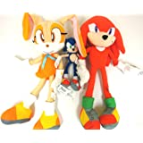Sega Sonic The Hedgehog X Sonic Knuckles and Cream the Rabbit 3 Plush Doll Stuffed Toy 19 inches (Sonic Plush Doll is 9 inches Only)