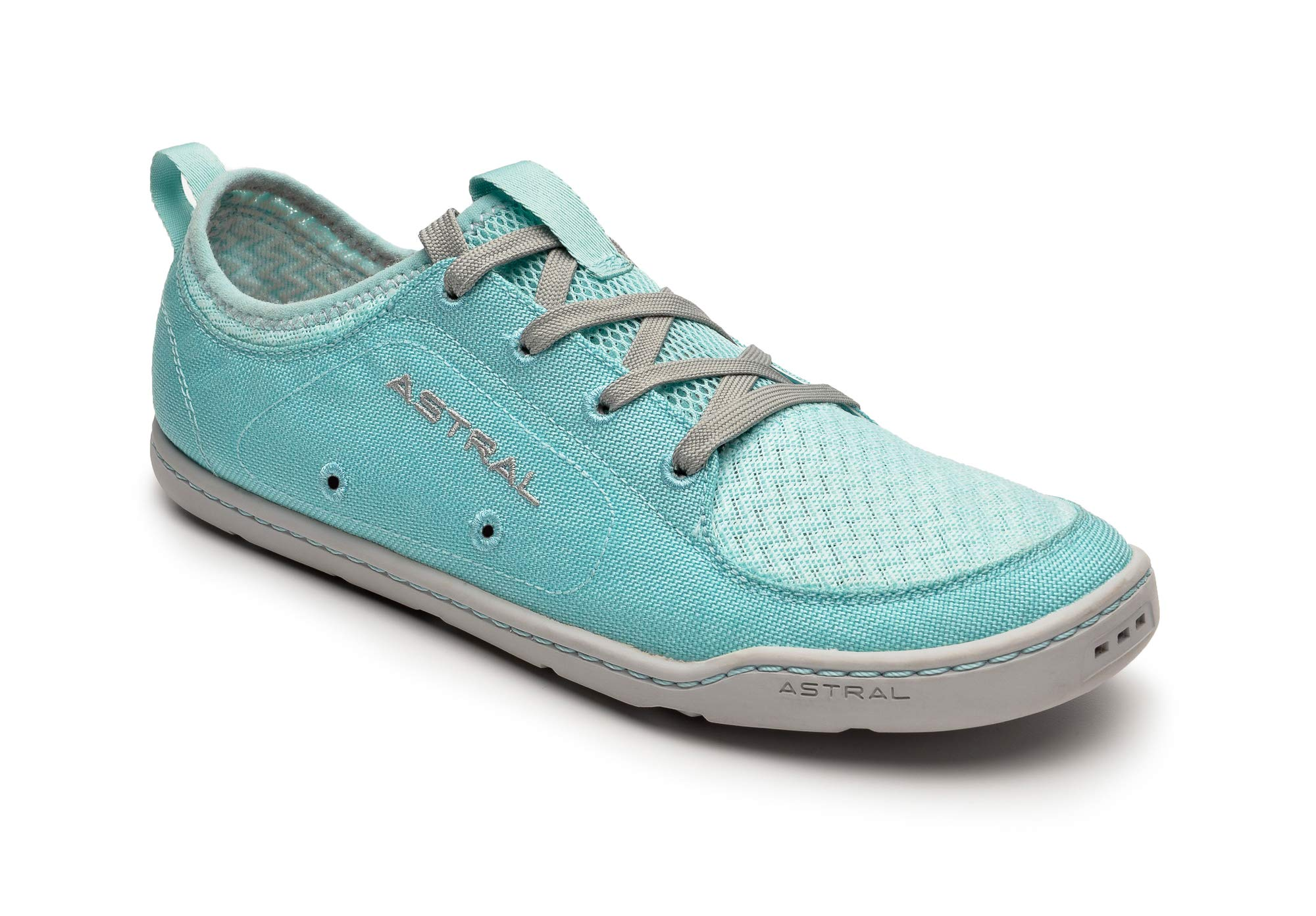 Astral Women's Loyak Everyday Outdoor Minimalist Sneakers, Lightweight and Flexible, Made for Water, Casual, Travel, and Boat, Turquoise Gray, 8 M US by Astral
