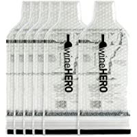 WineHero - 6 Pack Reusable Leak Proof Bottle Protector Bag for Travel Pack in Airplane Checked Baggage, Luggage, or…