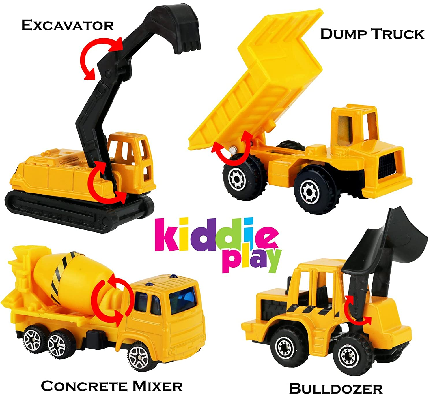Kiddie Play Construction Toys Set Birthday Party Cake Topper
