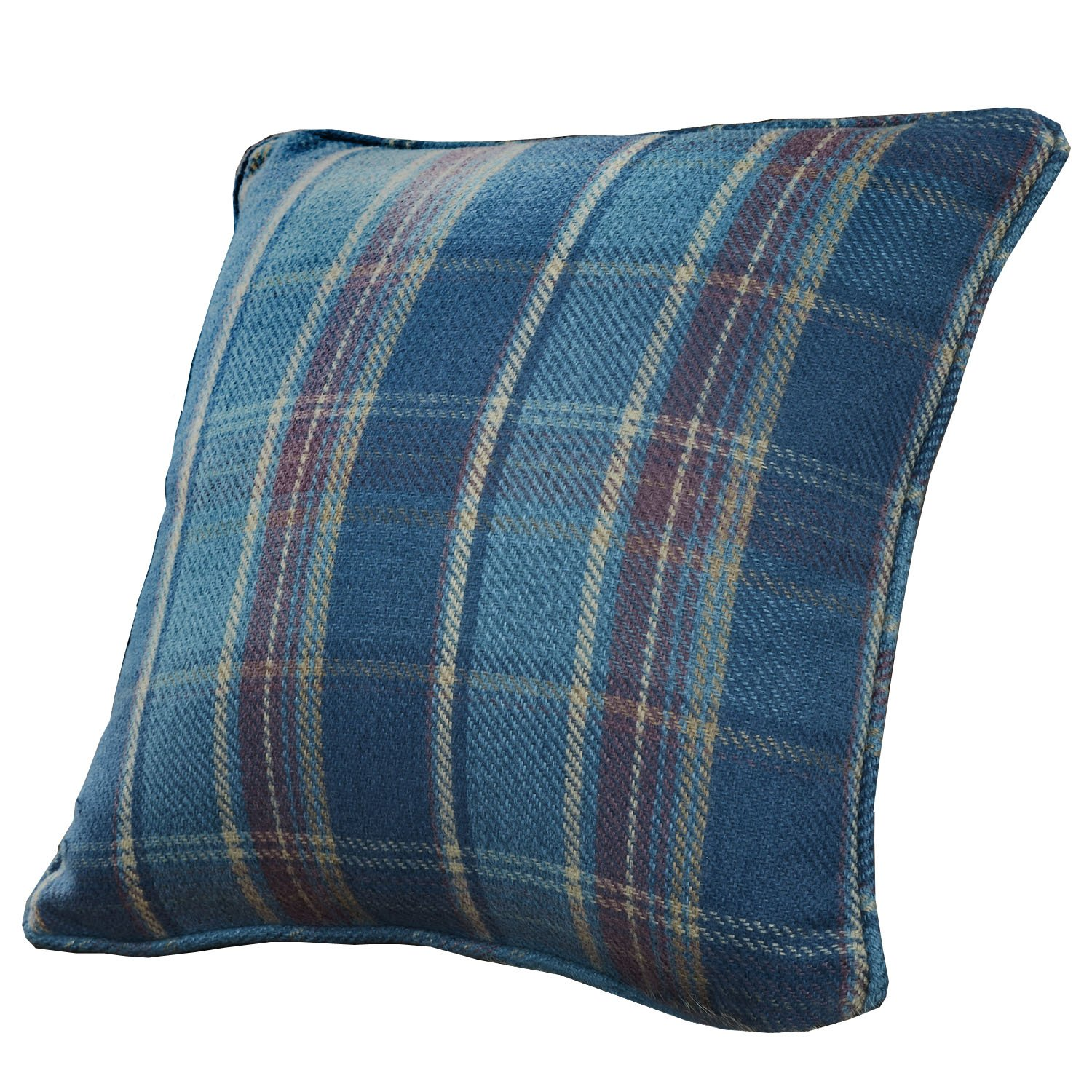 Curtina Cameron Tartan Check Filled Cushion, Teal, 43 x 43 Cm J Rosenthal BROTL437FP1