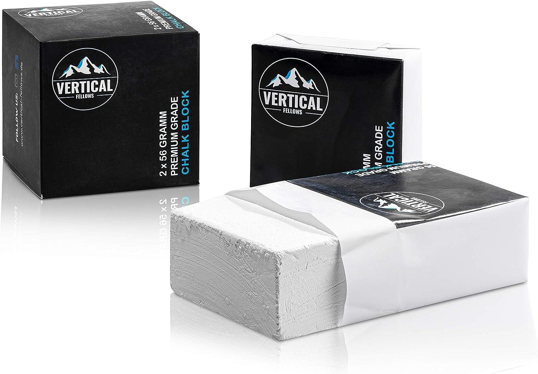 VERTICAL FELLOWS – Chalk Block 2 x 56 g Ideal para escalada ...
